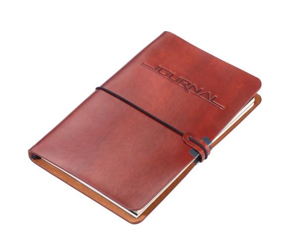Bullet Journal bestehend aus 2 Notizbüchern DIN A5 im Kunstledereinband TROIKA BULLET JOURNAL