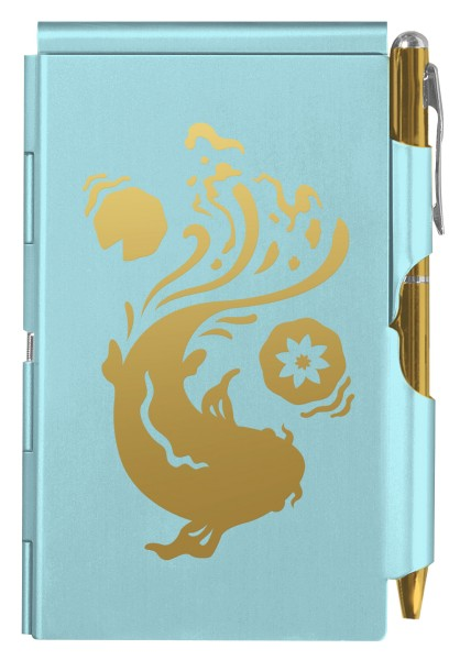 Flip Notes® Metalletui inkl. blanko Notizblock KOI FISH