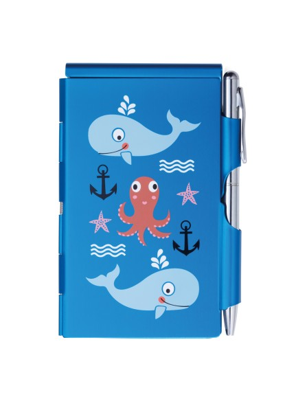 Flip Notes® Metalletui inkl. blanko Notizblock SEALIFE | FN2347