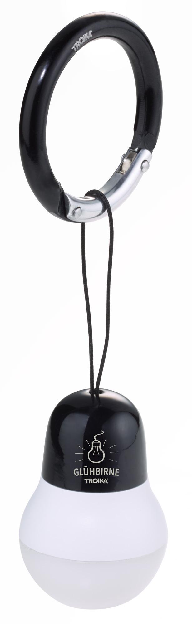 Mousqueton Lampe de Poche /à LED Troika Lampe de Poche et Suspension de Sac /à Main Couleur Titane Interrupteur Marche//arr/êt : Se Fixe /à la Lampe m/étal lumi/ère Blanche Plastique