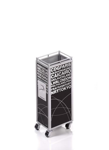 Stifteköcher im Design eines Flugzeugtrolleys MINI TROLLEY