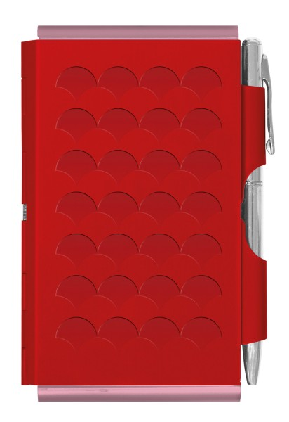 Flip Notes® Metalletui inkl. blanko Notizblock RED SCALE