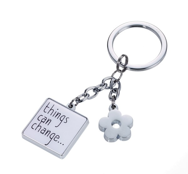 Schlüsselanhänger mit 2 Anhängern THINGS CAN CHANGE