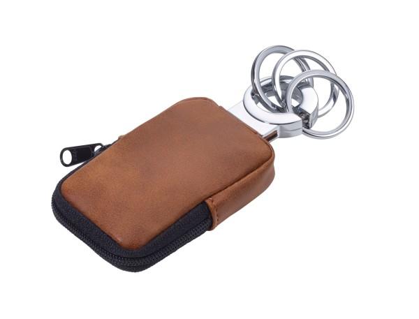Schlüsselanhänger mit Täschchen für Kleingeld, Maske, etc. CLEAN CLICK
