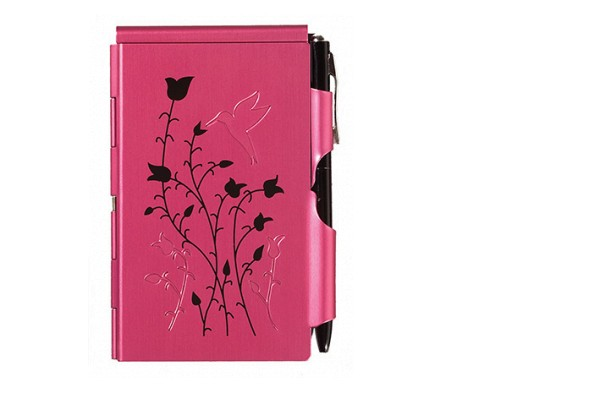 Flip Notes® Metalletui inkl. blanko Notizblock RASPBERRY HUMMINGBIRD