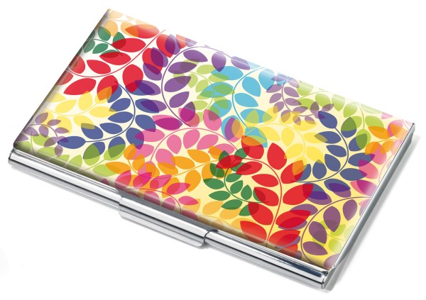 Estuche para tarjetas de visita COLOURFUL LEAVES