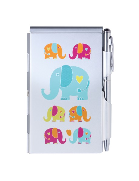 Flip Notes® Metalletui inkl. blanko Notizblock ELEPHANTS | FN2349