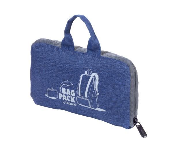 Set aus faltbarem Rucksack BAGPACK und Schlüsselanhänger WELTENBUMMLER SET WELTENBUMMLER