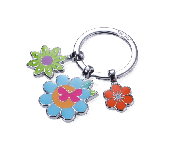 Portachiavi con 3 charms BOUQUET