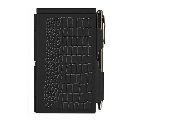 Flip Notes® Metalletui inkl. blanko Notizblock BLACK CROC