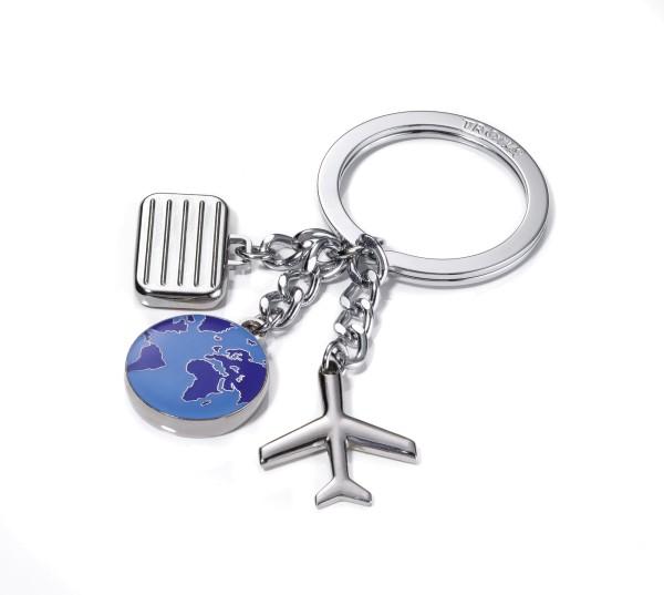Schlüsselanhänger mit 3 Reise-Anhängern WELTENBUMMLER