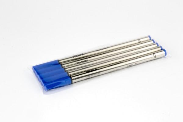 Cartucho de repuesto AZUL para bolígrafo roller (PEN65/BK, PEN10/.., PEN84/..) TINTENR MINEN BLUE 5-ER