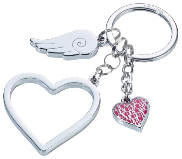 Schlüsselanhänger mit 3 Anhängern LOVE IS IN THE AIR